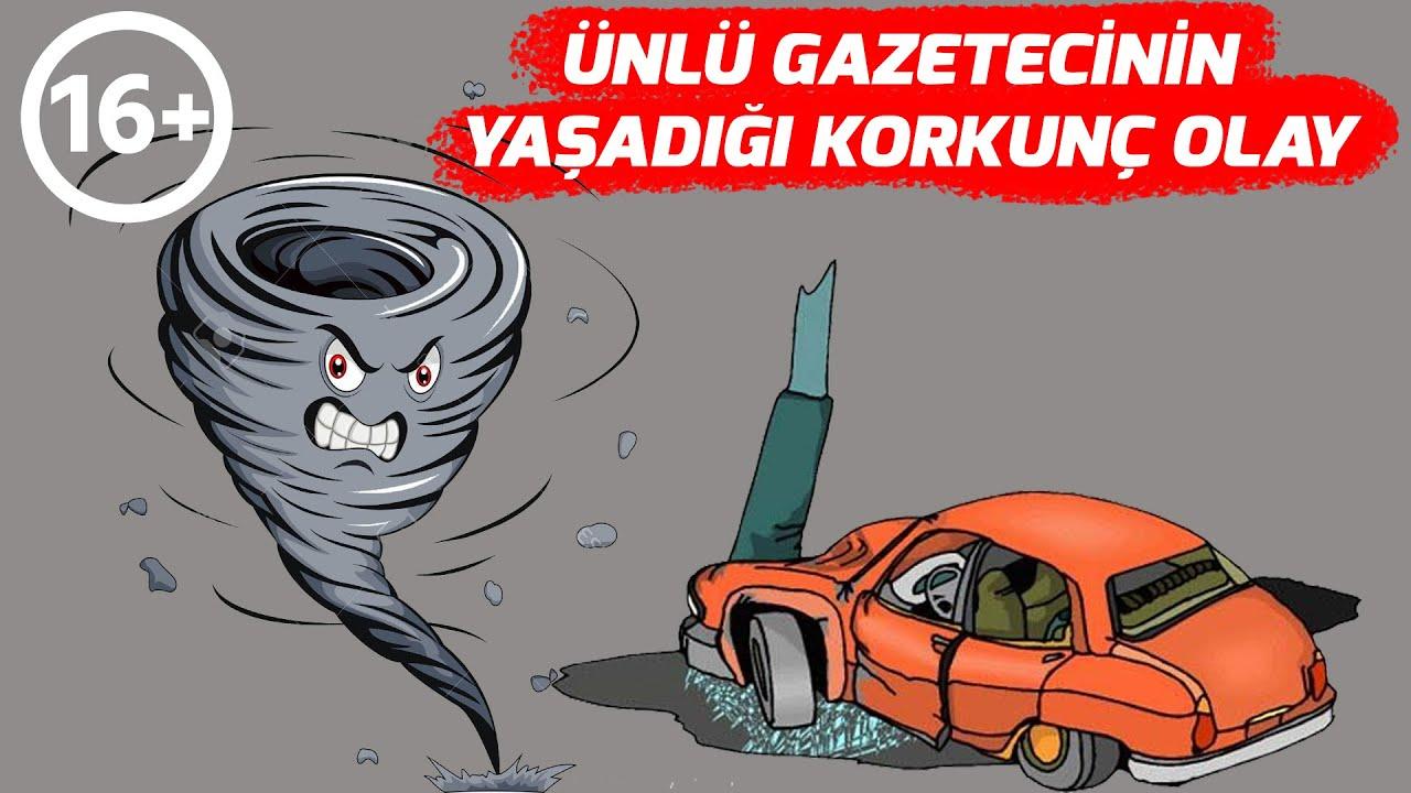 Ünlü Gazeteci Arabasında Fırtınaya Yakalandı Korkunç Olaylar