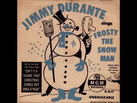 frosty the snowman jimmy durante