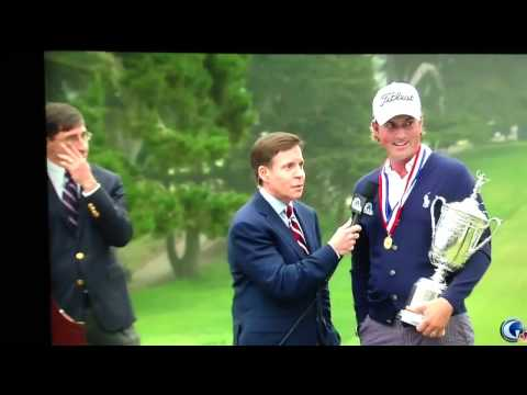 Webb Simpson U.S. Open fan ruins interview