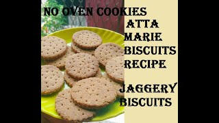 Whole Wheat Marie Biscuits: Sugarless Recipe Sweetened With Jaggery