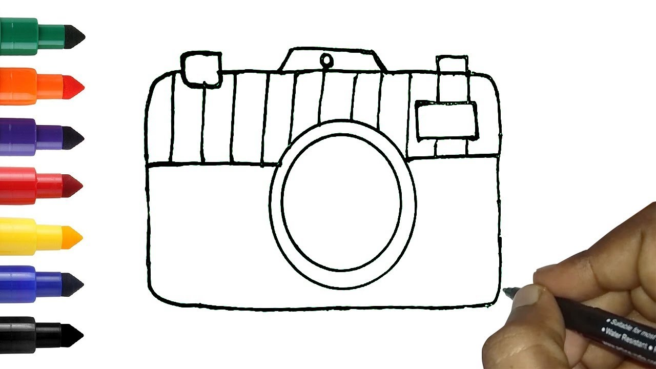 How to draw camera easy   Easy camera Drawing for kids ...