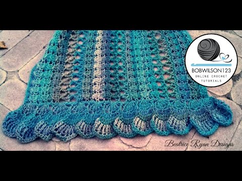 Crochet Midnight Breeze Shawl Tutorial - Beatrice Ryan Designs