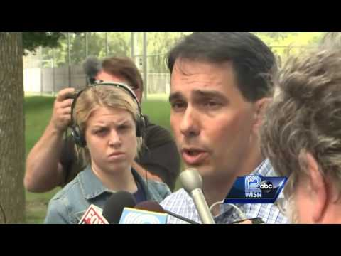 Gov. Scott Walker talks about National Guard, body cameras