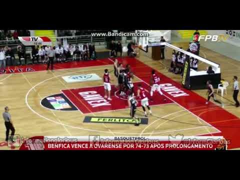 Basquetebol, 19ª jornada: AD Ovarense 73-74 SL Benfica