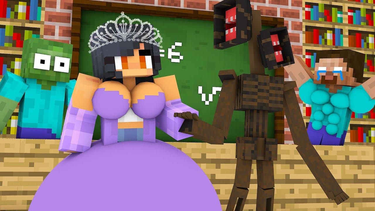 Monster School : BABY APHMAU WEDDING SIREN HEAD CHALLENGE - Minecraft Animation