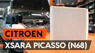 How to change pollen filter / cabin filter on CITROEN XSARA PICASSO (N68) [TUTORIAL AUTODOC]