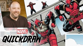 Brian Reber colors Spider-Man & Deadpool | Marvel Quickdraw