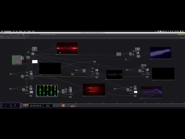 Ableton + MAX/MSP+ TOUCHDESIGNER (Sync Audio Analysis/A Simple Audio Reactive)