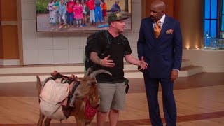 Meet Leeroy Brown, the baddest goat in town! || STEVE HARVEY