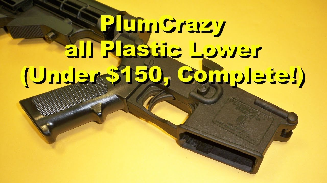 PlumCrazy / New Frontier AR15 / M16 Complete Plastic Lower Assembly - REVIEW