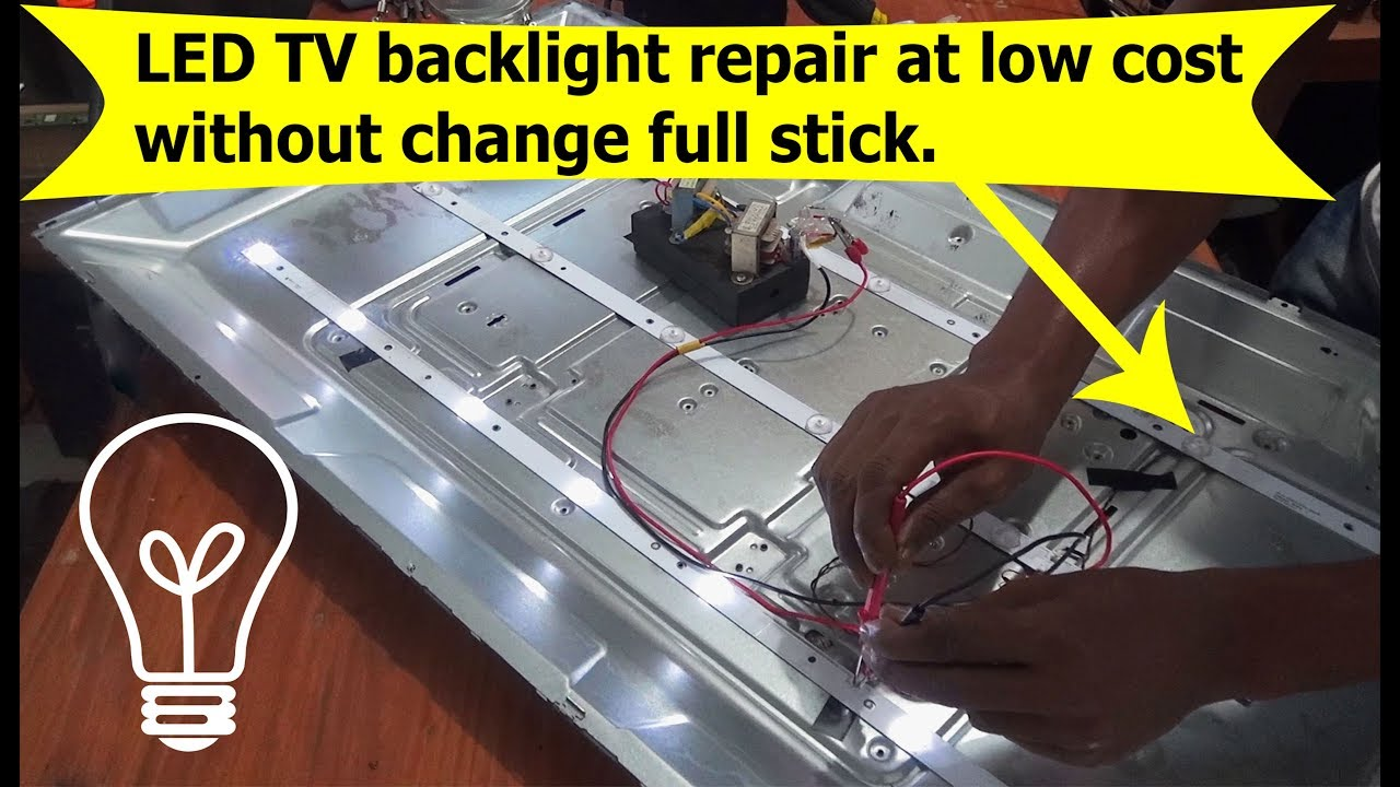 LED TV backlight repair at low cost without change full lamp stick #Pro Hack