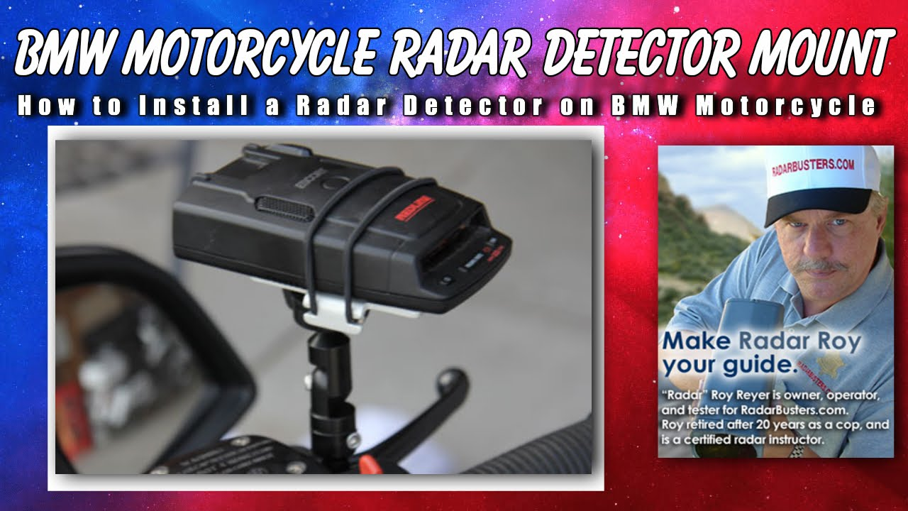 Bmw Motorcycle Radar Detector Mirror Mount Techmount