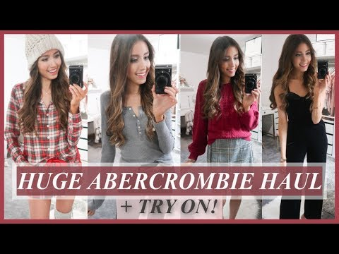 HUGE ABERCROMBIE & FITCH HAUL + TRY ON {FALL + WINTER}