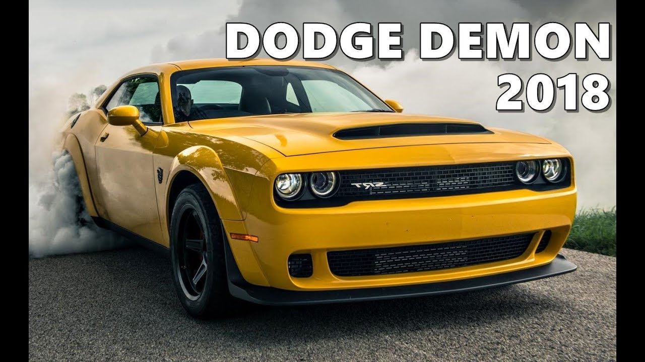 Dodge Challenger Demon (2018) Exterior, Interior, Drive - YouTube