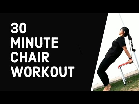 30 Minute Chair Workout for Full Body Training, Cardio and Fitness for Beginners at Home by BNBGYM