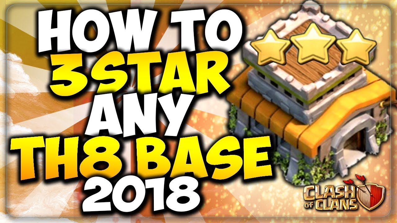 HOW TO 3 STAR ANY TH8 BASE | STRONGEST WAR ATTACK STRATEGY 2018 | Clash of  Clans