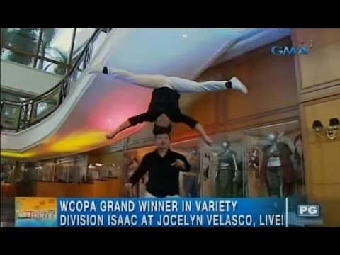 Velasco Brothers and Jocelyn Velasco make jaws drop with their winning acrobatic moves | Unang Hirit