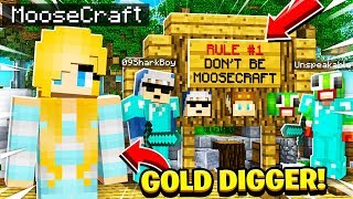 I Went UNDERCOVER as a GOLD DIGGER on the MOOSE HATER Server in Minecraft!