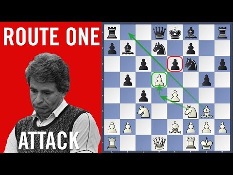 Route One Attack - Spassky vs Kostro   Olympiad Siegen 1970  