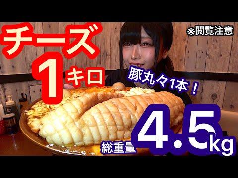 【大食い】大量チーズ×豚1本!制限時間40分で総重量4.5kgの激辛麻婆丼を食べきれるかチャレンジ!【三年食太郎】
