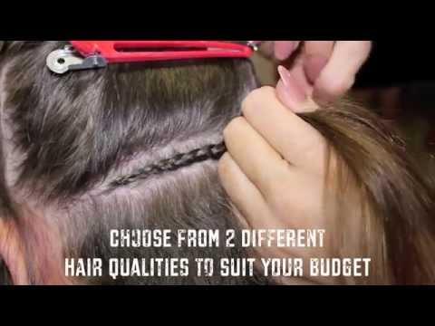 Haarverlangerung einflechten lassen