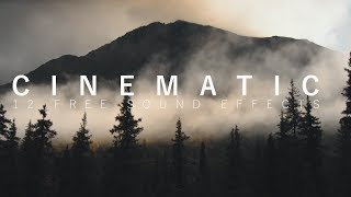 12 FREE Cinematic Sound Effects for Travel videos