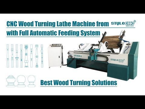 CNC Wood Turning Lathe Machine with Full Automatic Feeding System for sale