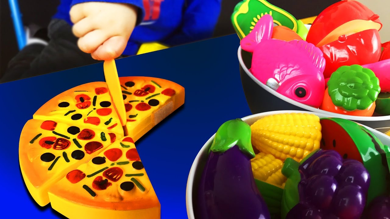 Plastic Fruit Vegetable Kitchen Cutting Toy. For Baby Kids Children ...