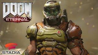 DOOM ETERNAL Exclusive Raw Gameplay Captured on Google Stadia