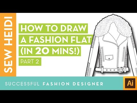 Illustrator Fashion Design Tutorial: How to Draw a Fashion Flat in 20 Mins (Part 2)