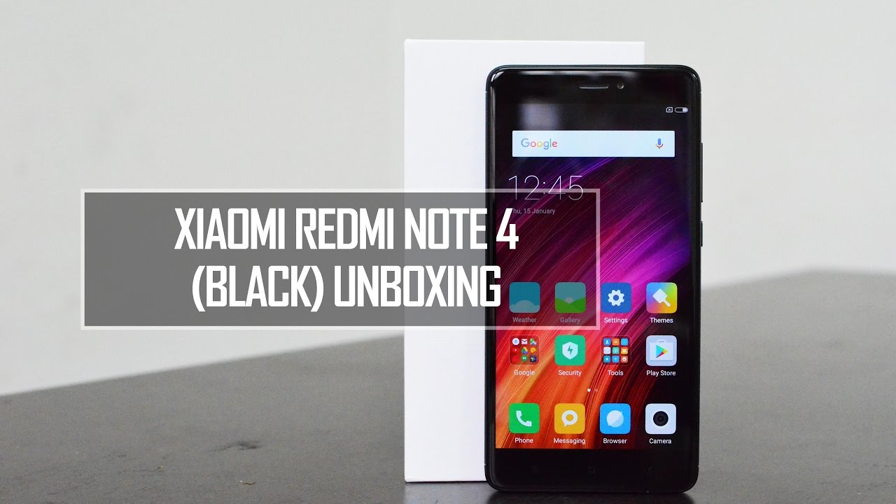 Xiaomi Redmi Note 4 Black Unboxing Snapdragon 625 4gb Ram And 5 Plus 3 Rom 32 Tam 64gb