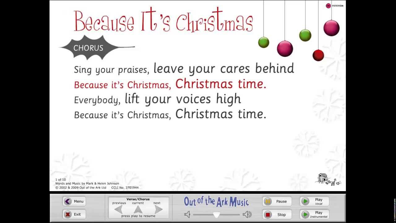 because its christmas words on screen original youtube - Christmas Words That Start With S