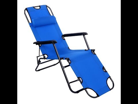 Yuebo Chaise Lounge Chair Outdoor Patio Folding Recliner