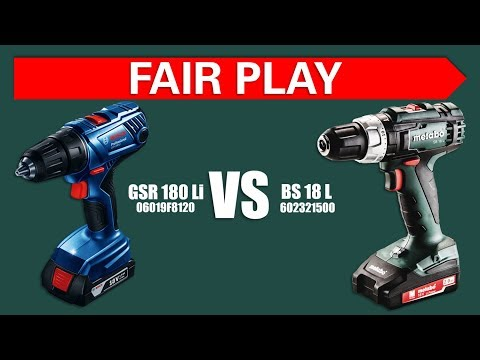 Тест шуруповёртов Metabo BS 18 L Vs Bosch GSR 180 Li Pro_Part 1