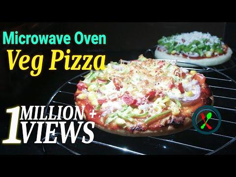 Pizza Recipe | Veg Pizza In Microwave Convection Oven Recipe | Vegetable Cheese Pizza Recipe