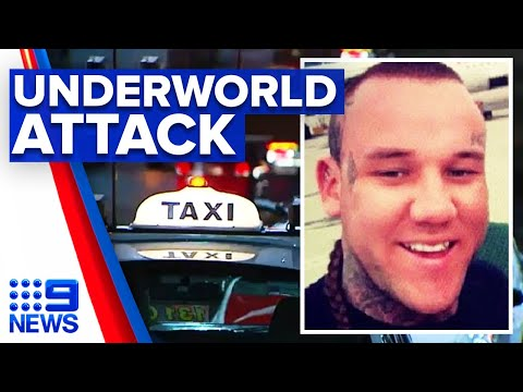 Taxi and passenger shot in suspected underworld attack | 9 News Australia