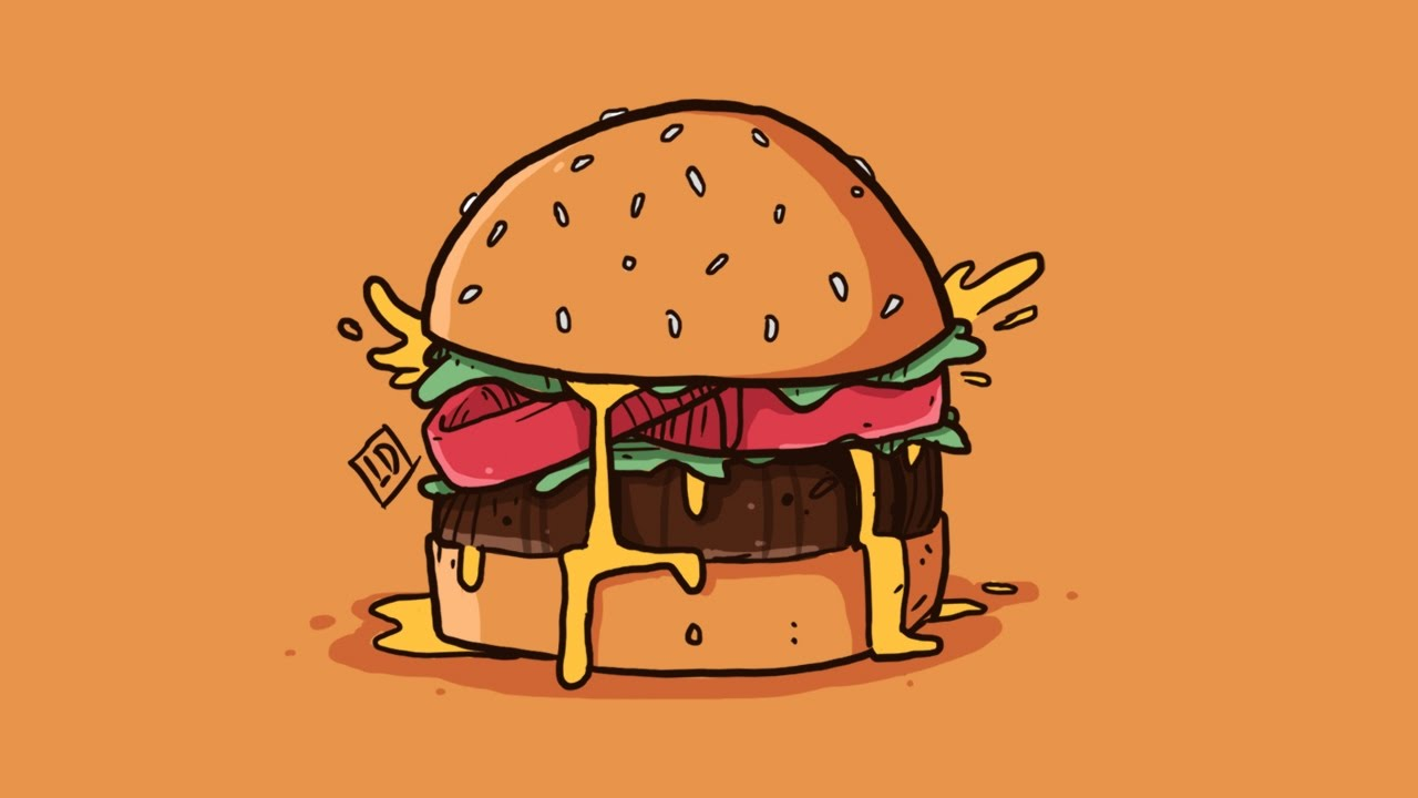 How To Draw A Hamburger Using Photoshop Live Draw Youtube