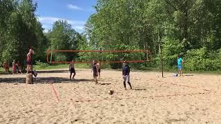 Пляжный волейбол. Стрим. Первая игра