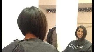 Hair Makeover - Long to Inverted Bob Haircut