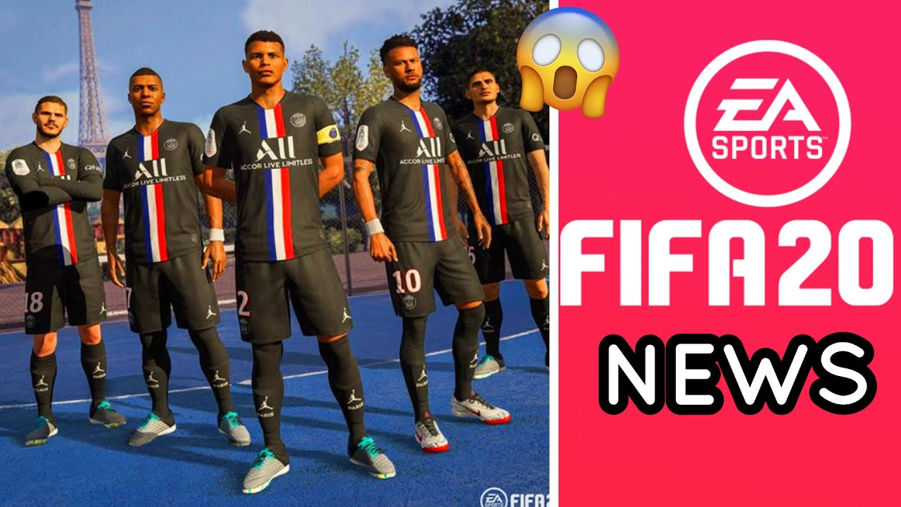 fifa 20 updates psg 4th kit new faces added new things added coming soon