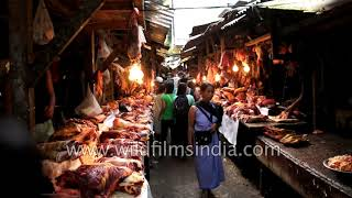 Indians do eat beef in some places: Beef market in Lewduh, Shillong