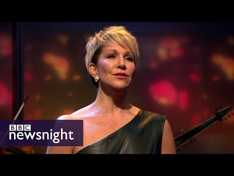 Joyce DiDonato performs Handel's 'Lascia ch'io pianga' live - BBC Newsnight