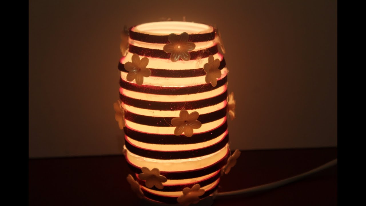DIY- Best Out Of Waste Plastic bottle Flower Lamp - YouTube