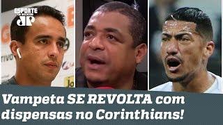 """""""Falta de RESPEITO!"""" Vampeta SE REVOLTA com dispensas de Jadson e Ralf do Corinthians!"""