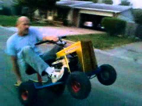 Mowett Mustang Lawn Mower Wheelies - YouTube