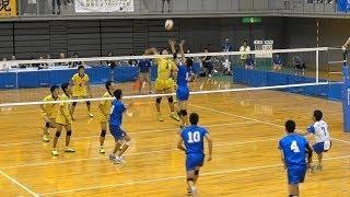 東海大札幌 vs 鎮西 1セット目 インターハイ2017 準々決勝 男子バレーボール