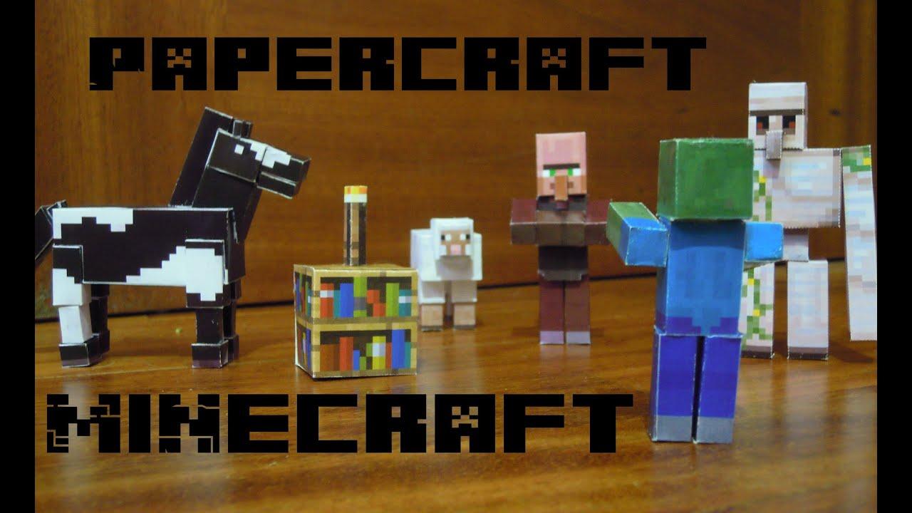 Aldeano de minecraft en papercraft - YouTube