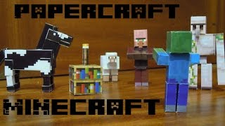 Aldeano de minecraft en papercraft