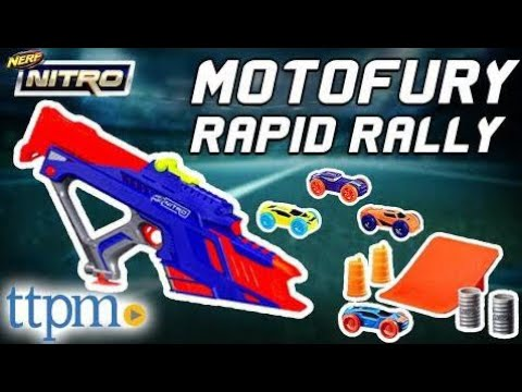 Nerf Nitro Motofury Rapid Rally Set Review Instructions Firing