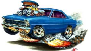 Maddmax Cartoon Muscle Car Art Movie 2